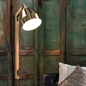 Gold And Wood Wall Light - The Forest & Co.