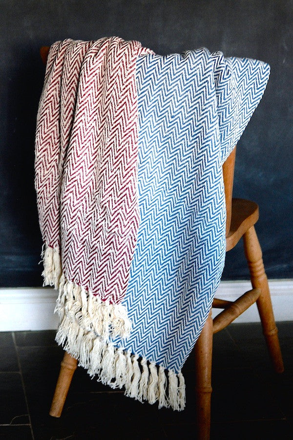 Cotton Herringbone Throw - The Forest & Co.