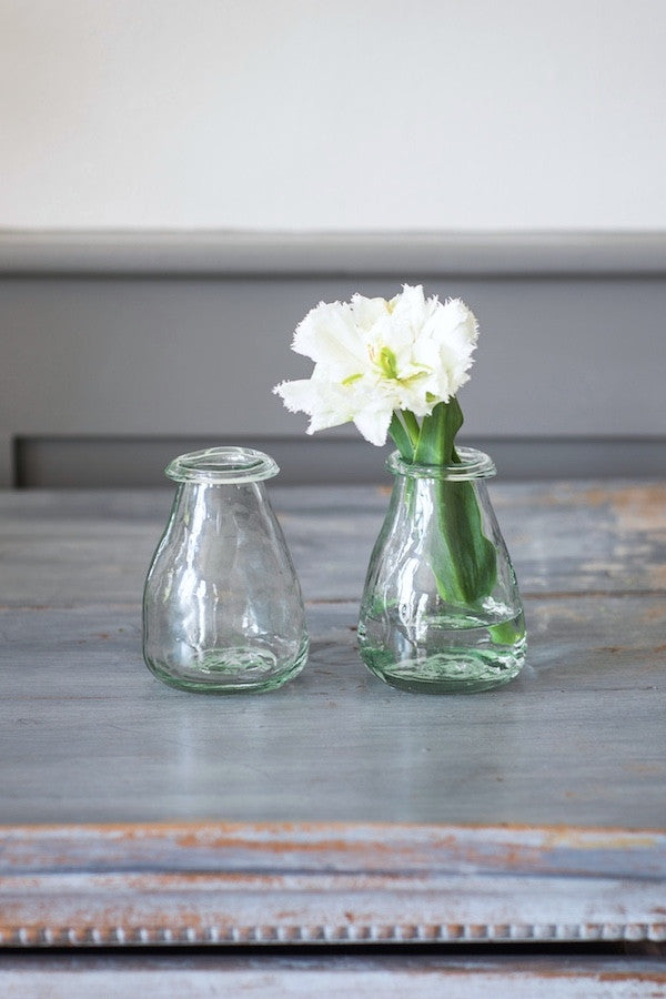 Little Recycled Glass Bud Vases Set - The Forest & Co.