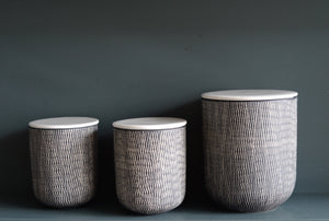 Ceramic Black & White Storage Jars - The Forest & Co.