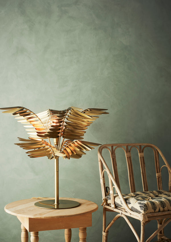 Gold Leaf Table Lamp