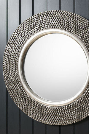 Pewter Circular Mirror - The Forest & Co.