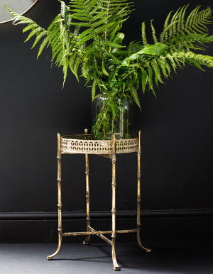 Gold Bamboo Side Table. PRE ORDER AUGUST