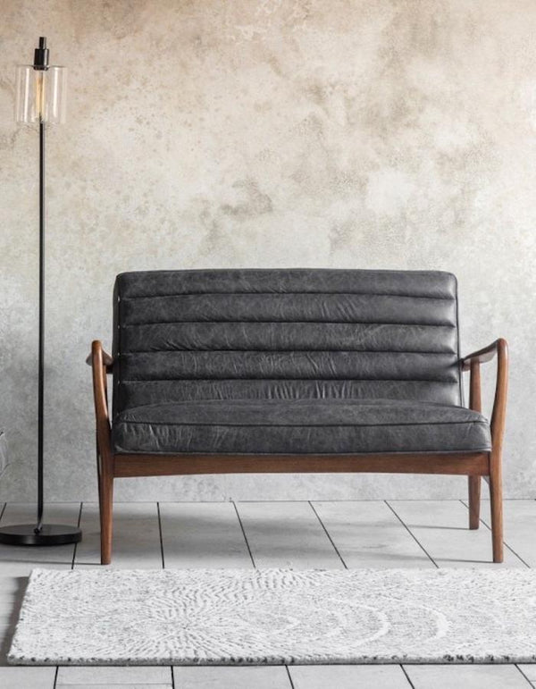 Antique Ebony Two Seater Sofa   PRE ORDER NOVEMBER