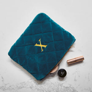 Luxurious Monogrammed Quilted Wash Bag