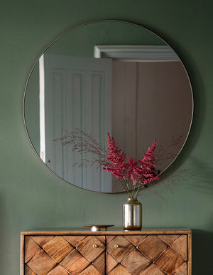 Frameless Circular Mirror