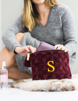 Luxurious Quilted Mulberry Wash Bag