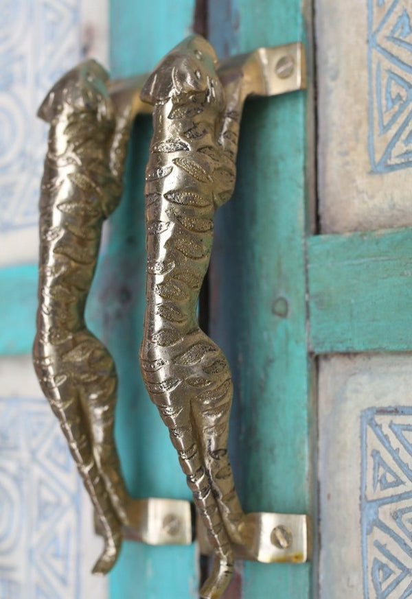Brass Jaguar Door Handle