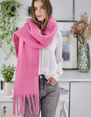 Personalised Candy Pink Blanket Scarf