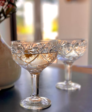 Set Of Two Classic Champagne Coupes