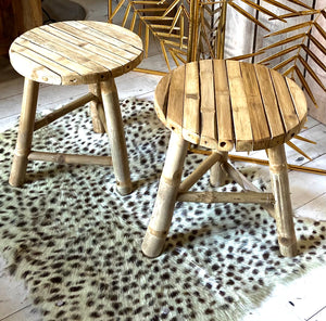 Small Bamboo Stool / Side Table