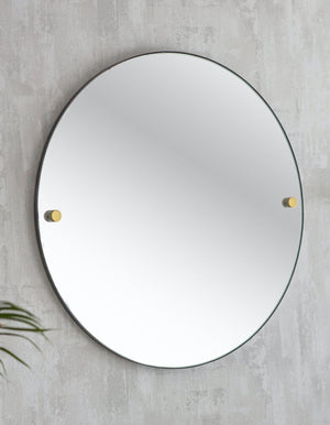 Round Frameless Mirror
