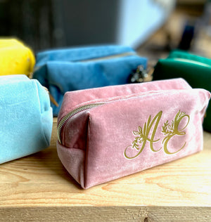 Personalised Velvet Make Up Bag