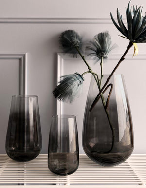 Black Smoked Glass Vase