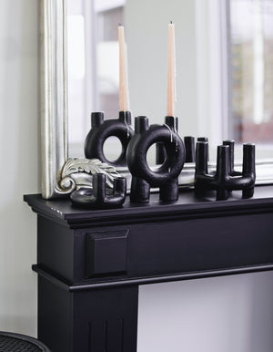Black Tube Iron Candle Holder
