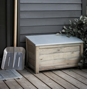 Galvanised Garden Storage Box - The Forest & Co.