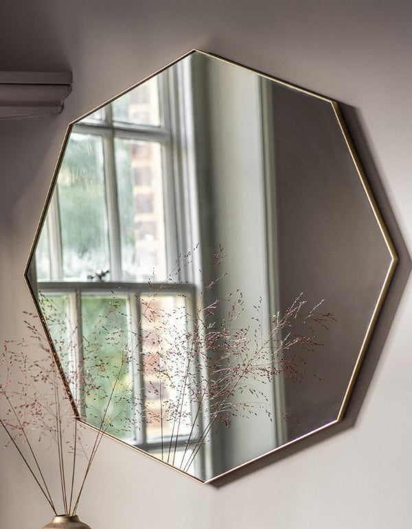 Octagon Shallow Framed Wall Mirror