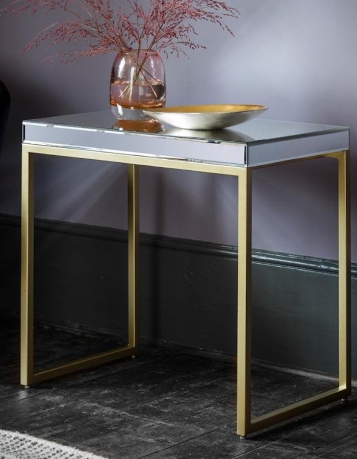 glassfurniture side mirrored klarity mirrorbox furniture by glass table coffee