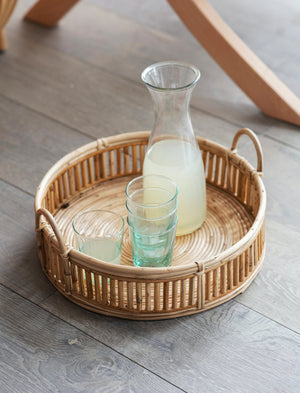 Rounded Rattan Tray  PRE ORDER LATE OCTOBER