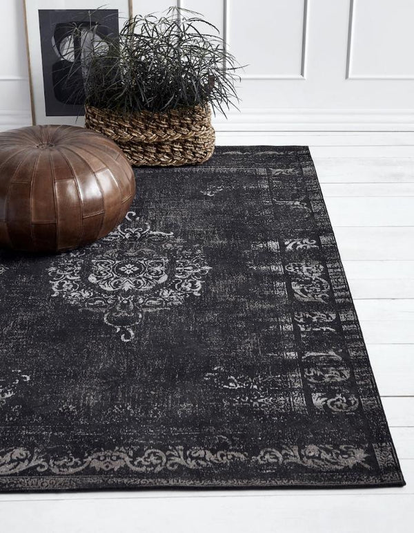 Black And Grey Woven Rug. PRE ORDER MARCH