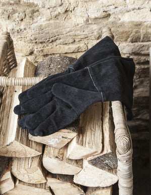 Suede Gauntlet Gloves