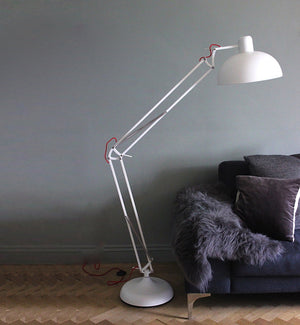 Matt White Floor Lamp - The Forest & Co.