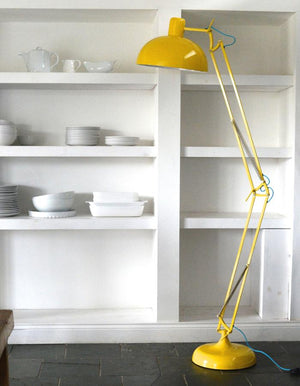 Acid Yellow Angled Floor Lamp