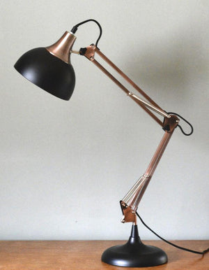 Copper And Black Desk Lamp