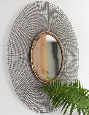 Copper & Gold Sunburst Mirror