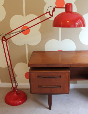 Crimson Angled Floor Lamp