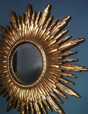 Antique Gold Sunburst Mirror - The Forest & Co.