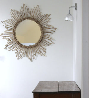 Large Sunburst Rattan Mirror - The Forest & Co.