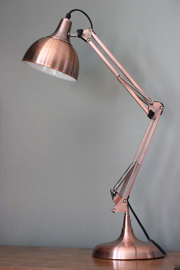 Copper Angled Desk Lamp - The Forest & Co.