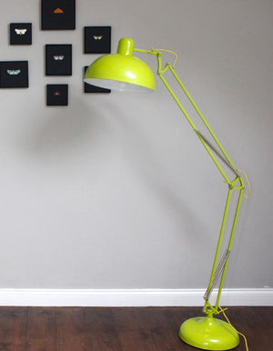 Lime Angled Floor Lamp