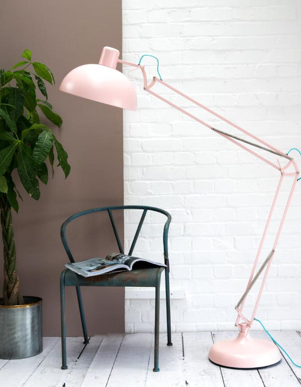 Dusty Pink Floor Lamp