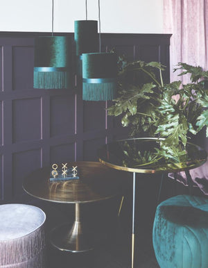 Emerald Green Fringed Pendant Shade