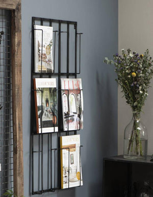 Danish Wall Mounted Magazine Rack