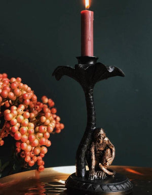 Crouching Monkey Candlestick Holder
