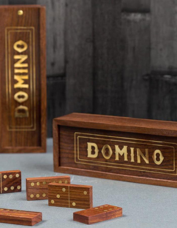 Gold Inlaid Domino Set