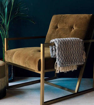 Velvet Olive Occasional Chair
