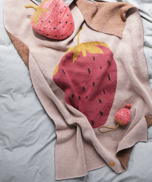 Personalised Children's Strawberry Blanket