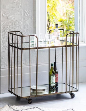 Bronzed Venice Drinks Trolley PRE ORDER LATE MARCH