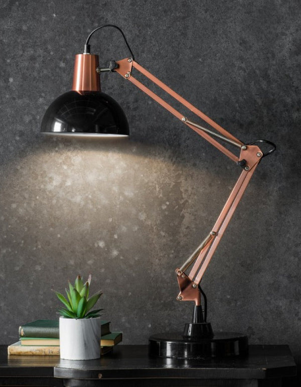 Table Lamp In Bronze And Black