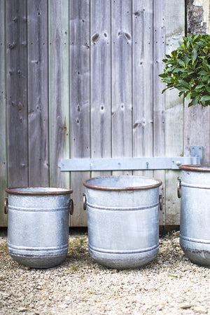 Metal Planters Available In Three Sizes PRE ORDER AUGUST