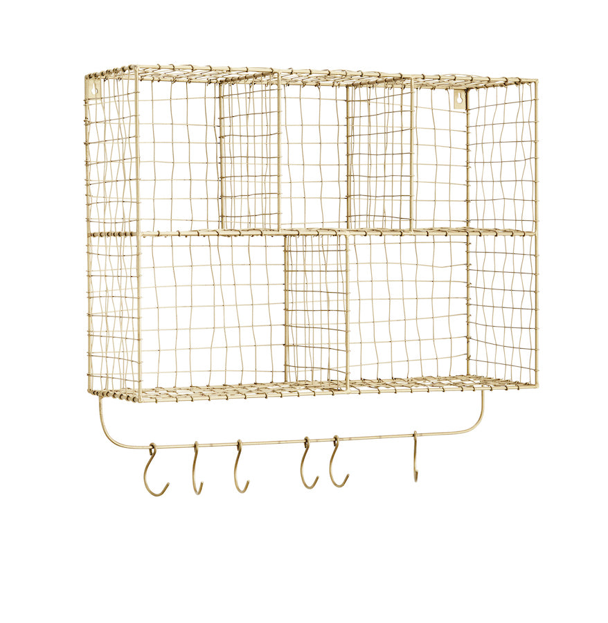 Danish Wire Storage Unit with Hooks - The Forest & Co.