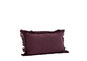 Pure Linen Fringed Cushion