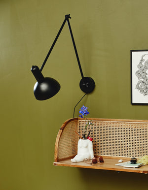 Black Angular Wall spot Light
