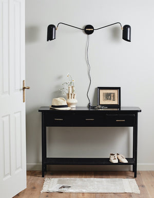Black Teak Wood Console. PRE ORDER LATE FEBRUARY