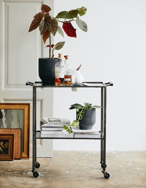 Black Glass Trolley. PRE ORDER FEBRUARY