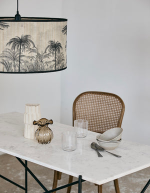 Tropical Palm Print Bamboo Lampshade. PRE ORDER APRIL
